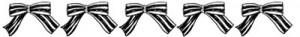 フリー素材:飾り罫;モノトーンの大人可愛いストライプのリボンのライン;400×50pix