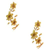 パターン(壁紙)のフリー素材:アンティークファブリックみたいな小花の背景イラスト;200×200pix