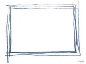 大人可愛いフリー素材:フレーム;紺色のラフなラインのフレーム;640×480pix
