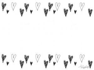 大人可愛いフリー素材:ペンの感じがラフな手描きのハートのフレーム;640×480pix