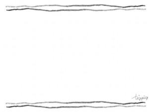 フリー素材:フレーム:モノトーンのラフな鉛筆描きの2本のライン;640×480pix