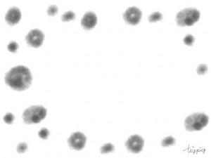 フリー素材:和風フレーム:水彩風のにみじが大人可愛い水玉;640×480pix