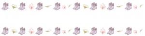 大人可愛いブーツいっぱいのラインのヘッダー画像のフリー素材:800×200pix