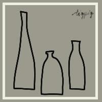 HP制作やLINEアイコンにも使える北欧風のシンプルなブラウングレーの瓶のイラストのフリー素材