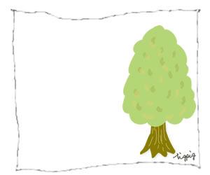 ネットショップ,バナー制作に使えるシンプルな木とラフなラインのフレームのフリー素材