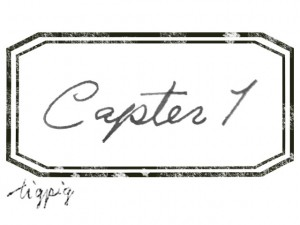 大人可愛いHP制作に使える手描き文字のCapter1とスタンプ風ラベルのフレームのフリー素材