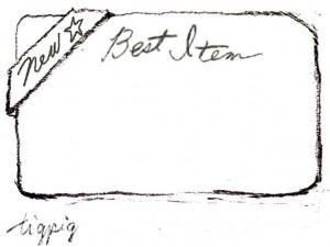 大人可愛いHP制作のおすすめ画像に使える鉛筆描きのBest Item の手書き文字とNewのリボンのフレームのフリー素材