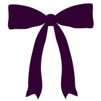 秋のアイコンに使える紫の大人可愛いリボンのフリー素材