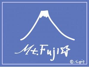 HP制作に使えるMt.Fujiの手書き文字のロゴと富士山のイラストのフリー素材