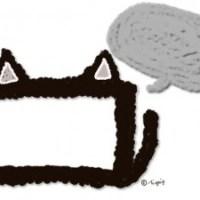 大人可愛い黒猫の耳としっぽのイラストのフレームと吹出しのフリー素材:640×480pix