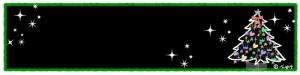 クリスマスのHP制作に使えるクリスマスツリーとキラキラのフレーム:800×200pix