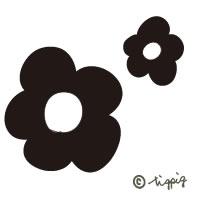 デイジーの花柄の大人可愛いアイコンの無料素材