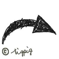 太めの手描きのラインの矢印アイコン:200×200pix