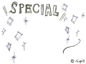 大人可愛いSPECIALの手描き文字とキラキラ:640×480pix