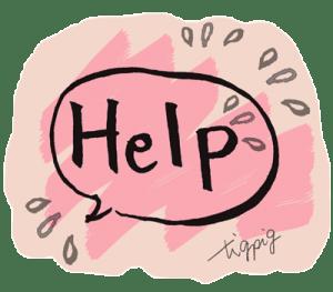 ネットショップやSNSに使えるHelpの手書き文字とフキダシ_01:400×350pix
