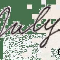 モノトーンのシンプルな万年筆風の手書き文字Julyのweb素材:400×200pix