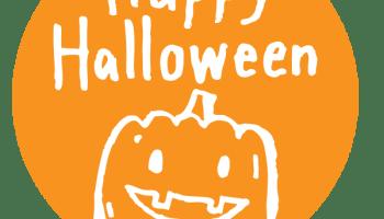 ハロウィンに使える Halloweenの手書き文字とカボチャのイラストのweb