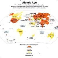 Mapa actual del mundo en  la era atómica