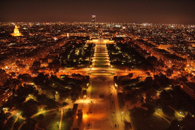 eiffel tower by night Paris attractions