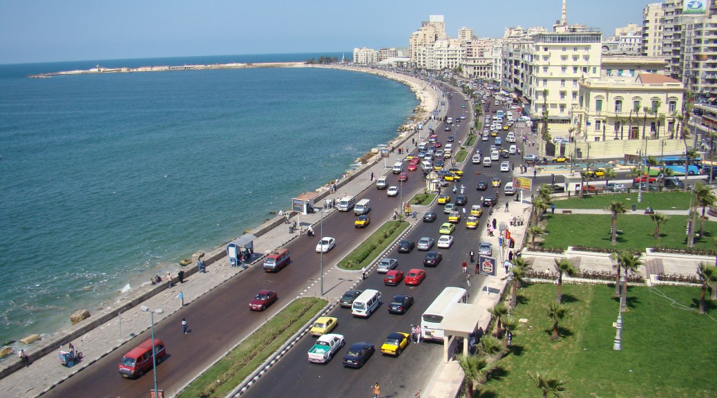 Alexandria Egypt and Mediterranean coast