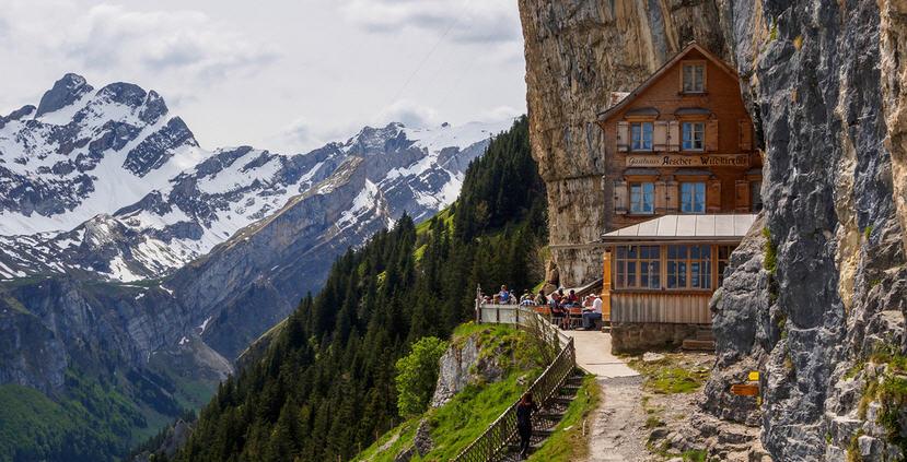 Ascher Cliff, Switzerland