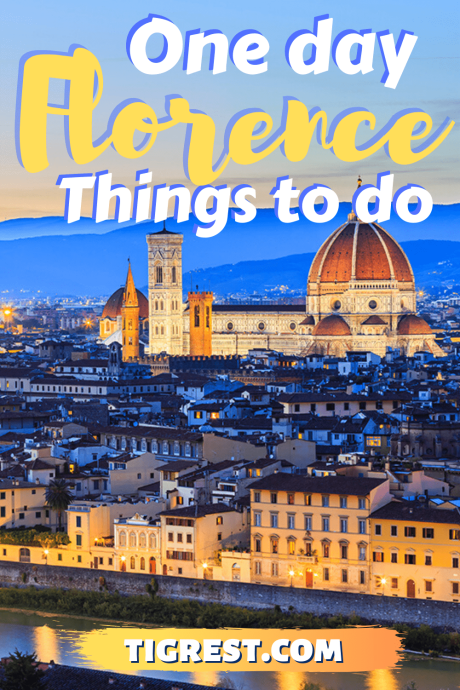 Florence one day walking itinerary