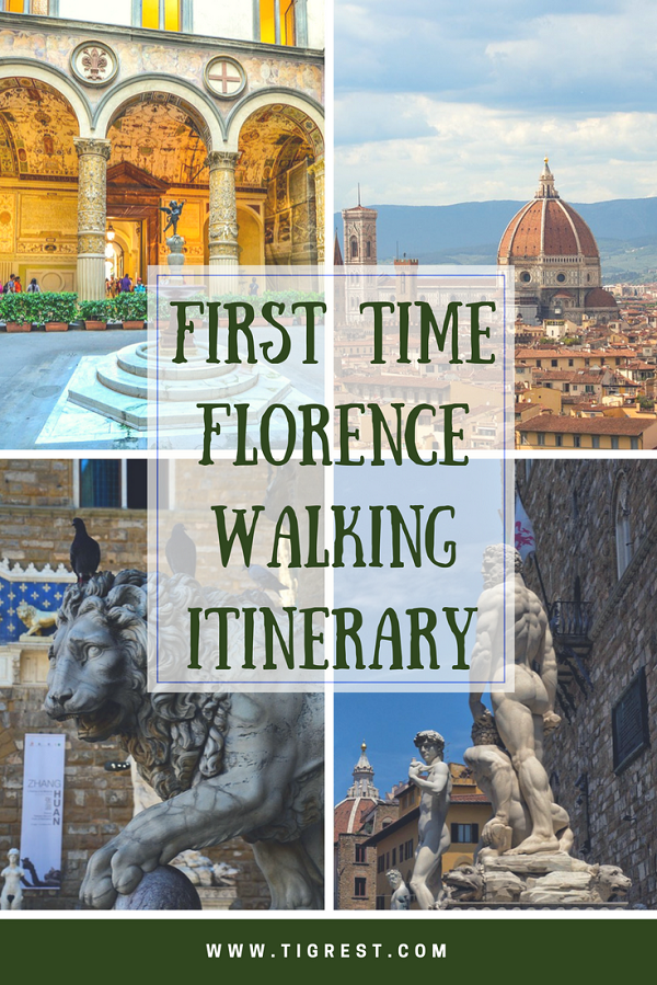 First time in Florence - walking itinerary #Florence #italy #one day in Florence #Florence walking itinerary