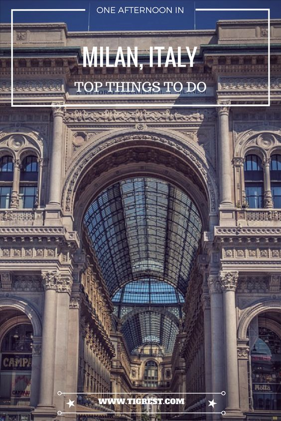 things to do in Milan in one day - pinterest