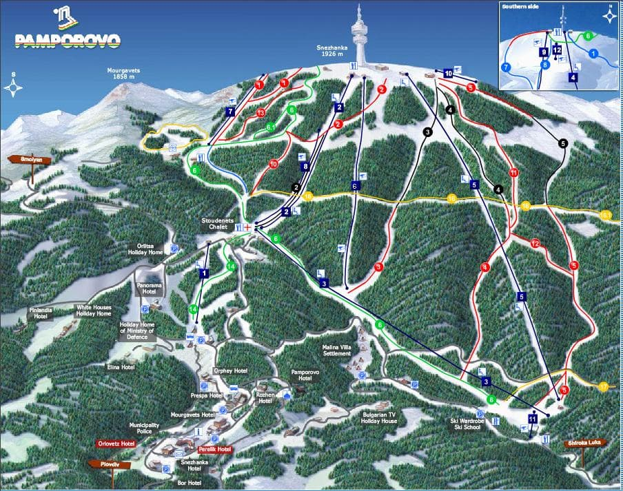 Cheap SKI holidays with Ryanair flights Pamporovo