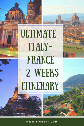 italy France 2 weeks itinerary