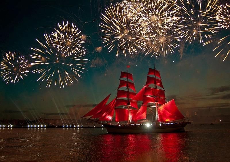 Scarlet Sails in Saint Petersburg Russia
