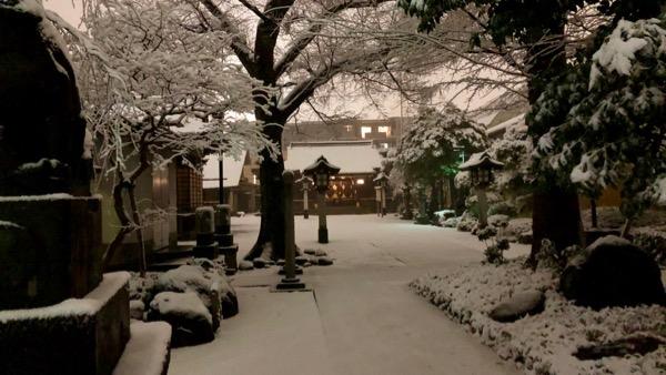 新井宿 春日神社は雪化粧です。
