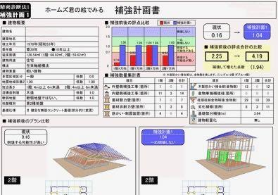 耐震補強計画 大田区耐震助成金を利用した H邸耐震補強設計