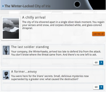 Winterstrike is a post-apocalyptic game of chance, built on the StoryNexus platform.