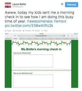 use Google Docs so students talk to you