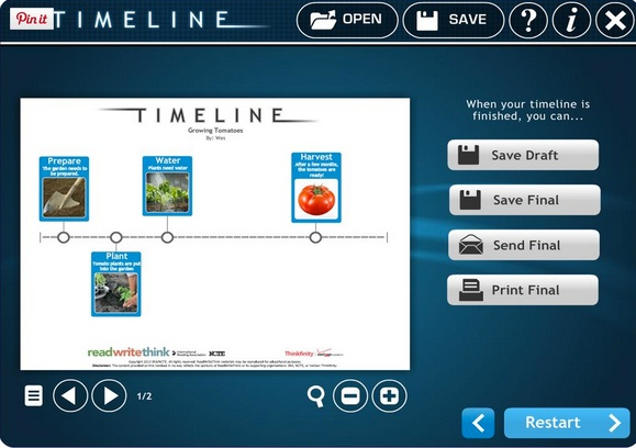 timeline tools for transformative learning