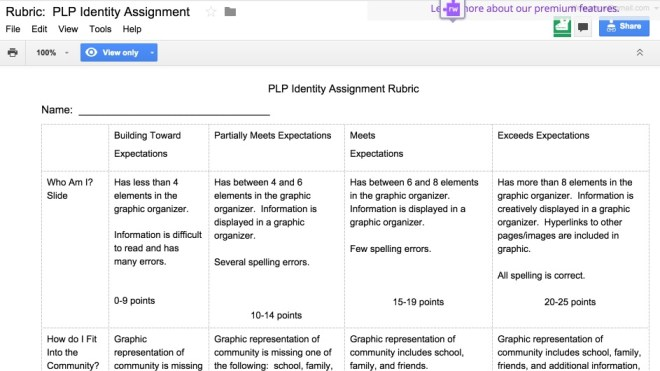 Google Tools for personal learning plans