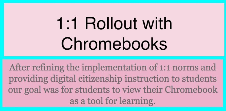 1:1 rollout with Chromebooks: implementing 1:1 norms and digital citizenship