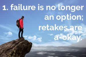 proficiency-based reporting: failure is no longer an option; retakes are a-okay