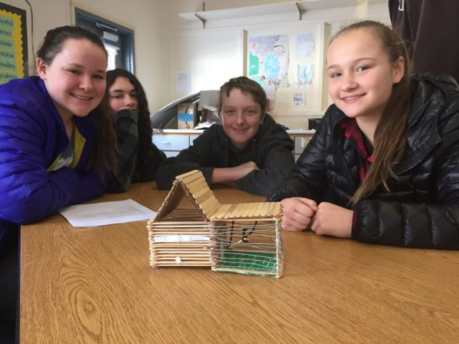 student-made chicken coops