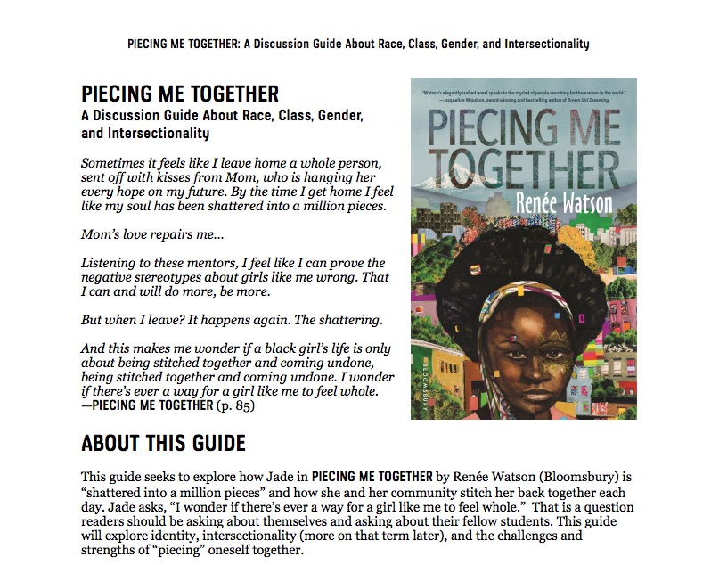 Piecing Me Together Discussion Guide