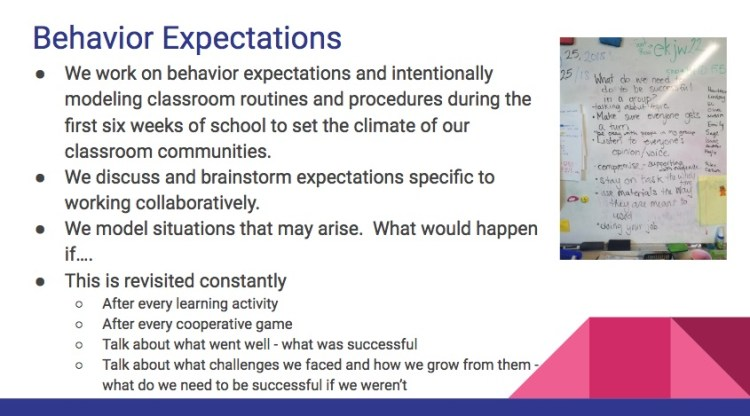 setting behavioral expectations in a makerspace