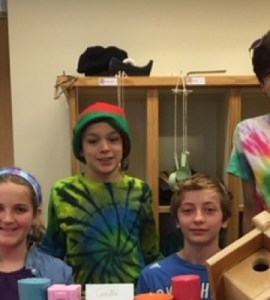 A quartet of Mettawee 6th graders hosts a pop-up store at the school's holiday boutique.