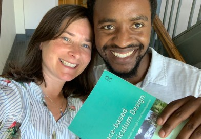 Jeanie Phillips (l) & Thierry Uwilingiyimana with Place-Based Curriculum Design, by Amy Demarest