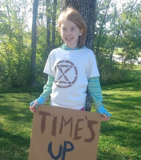 Margaret at Youth Climate Strike