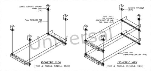 Cable Tray Support System Rod And Angle Type at Best Price