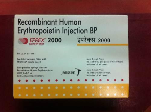 Recombinant Human Erythropoietin Injection BP (EPREX 2000 ...