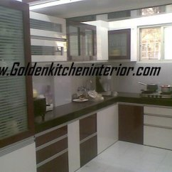 Kitchen Furniture Cabinet Crown Molding Fancy Modular In Pune Maharashtra Golden