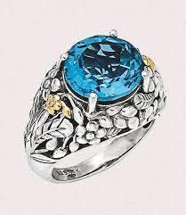 Sterling Blue Finger Ring Millennium Jewellery Hotel