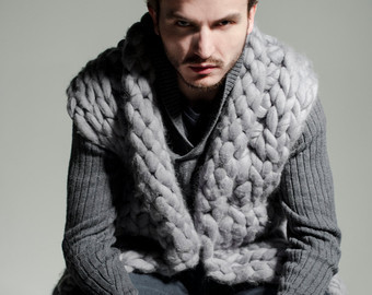 cotton yarn men vest
